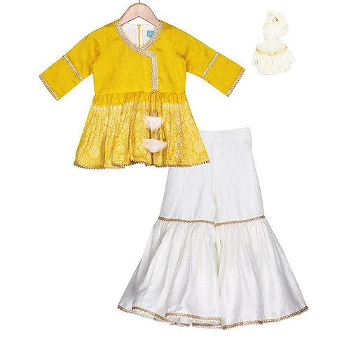 Saffron Gold Sharara Set