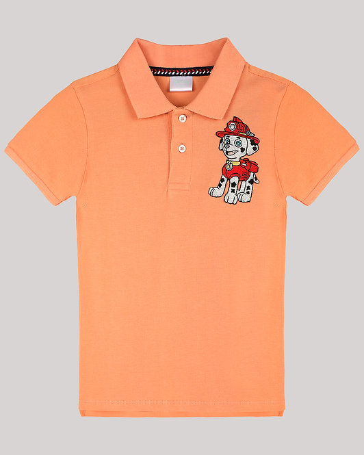 Polo T-Shirt With MarshallPup From Paw Patrol Motif