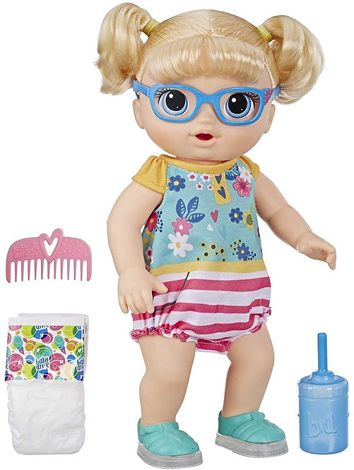Baby Alive Step n Giggle Baby Blonde Hair Doll with Light-up Shoes
