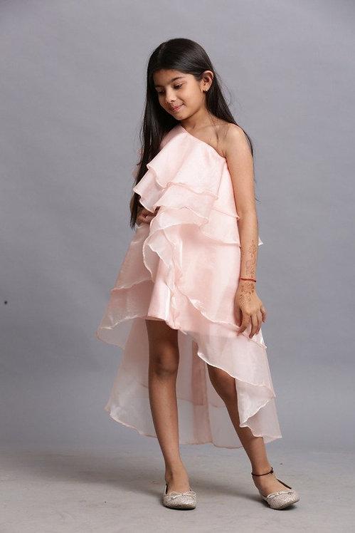 Peach Shefone Dress