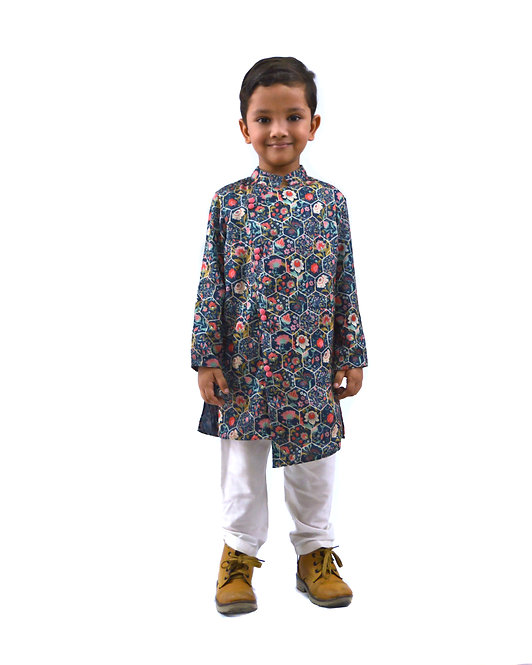 Hexa Print Kurta and Pajama