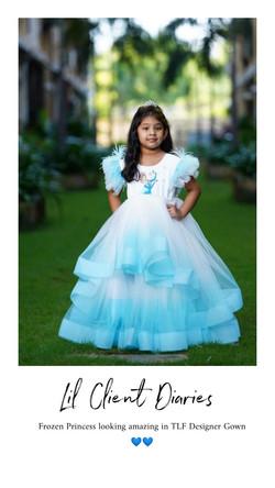 Elsa Snowflakes Gown