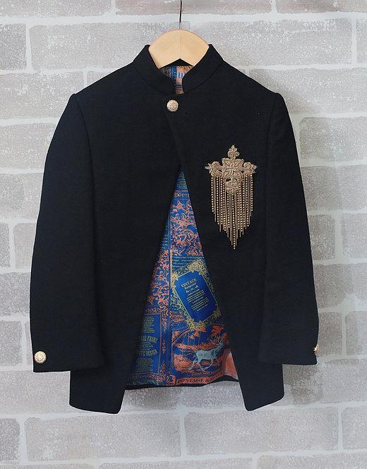 Black Centre Cut Coat
