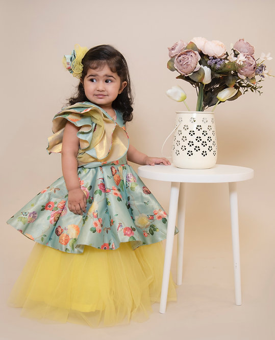 Blue Yellow Goldie Gown
