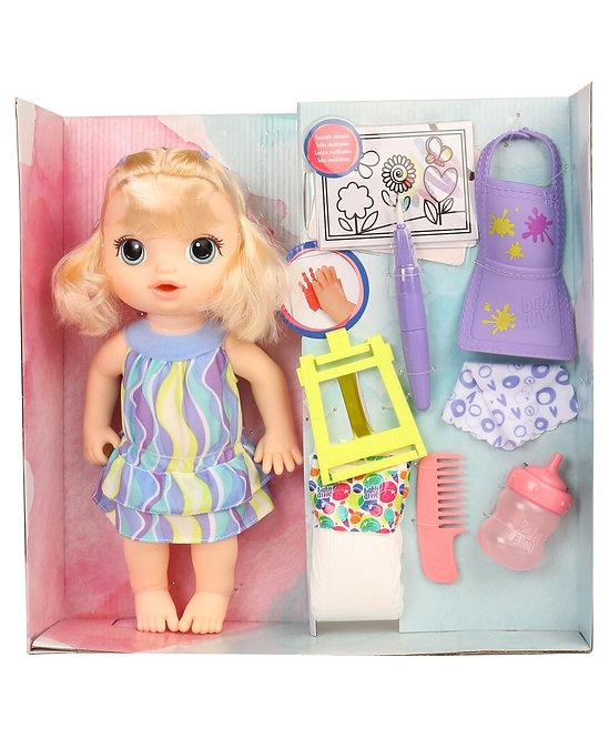 Baby Alive Finger Paint Doll Multi Colour