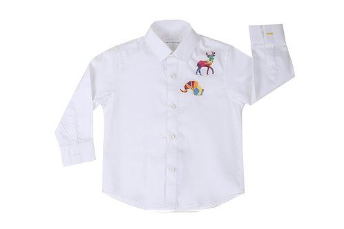 Geometric Animal Print Shirt