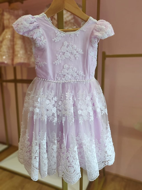 RS-Lavender Arya Lace dress