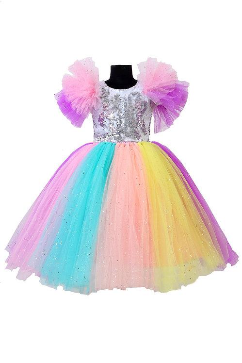 Rainbow Tutu Gown