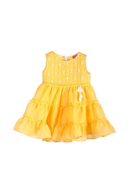 NGB Yellow Tier Dress