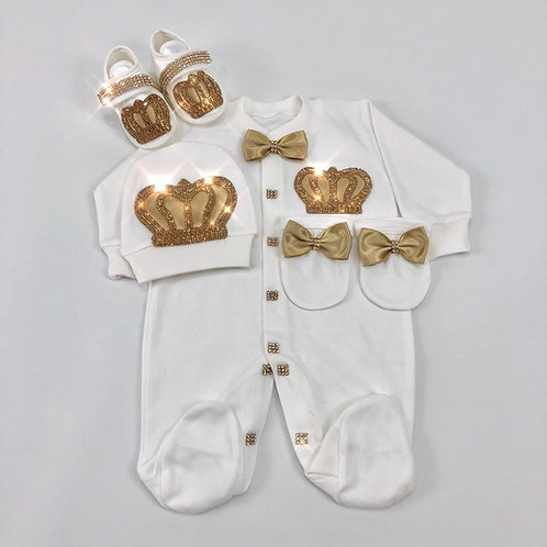 Royal Jewel Newborn Set -Gold