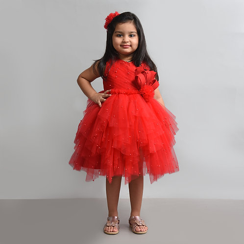 Red Moti Dress