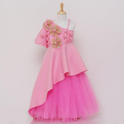 Pink Floral Front Length