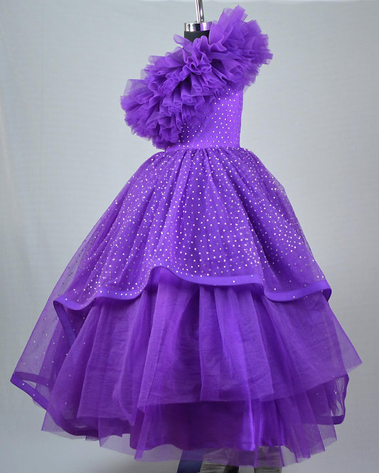 Purple Stone Gown