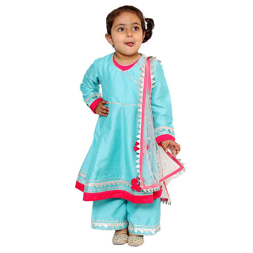 RS-Blue Pink Sharara Salwar