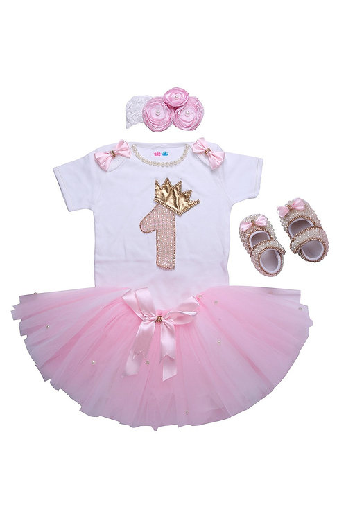 Pink First Birthday Tutu Outfit