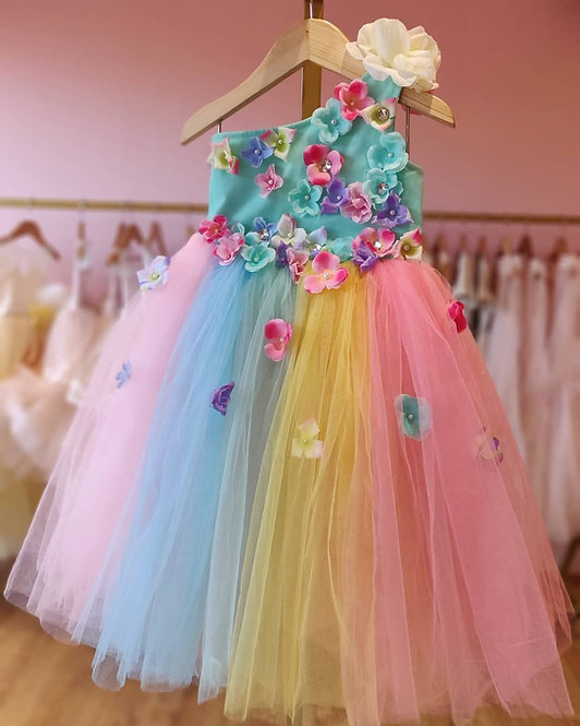 Tutu Gown with Flowers