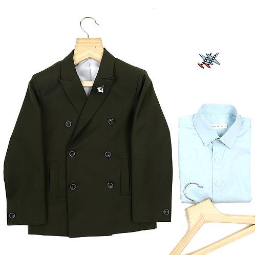 Dark Olive Suit