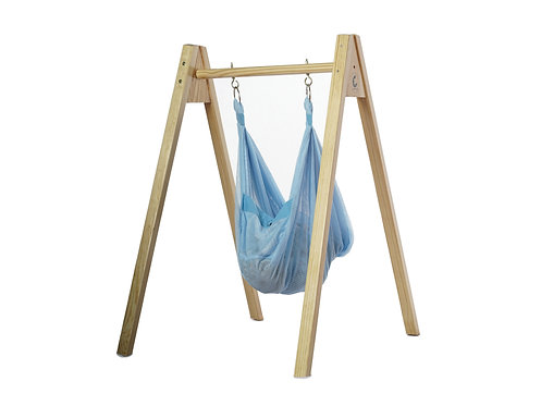 Baby Hammock/Cradle with Stand - Polyester mesh and Wood