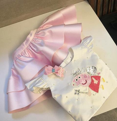 Peppa Pig Crop Top Skirt