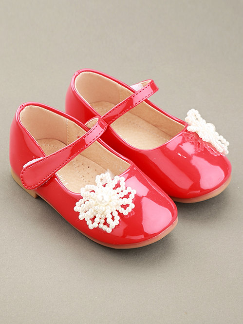 Red Pearl Flower Shoes