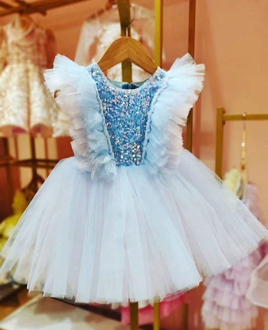RS-Pink And Blue Sparkle Dress