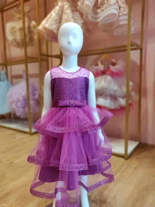 RS-Purple Glitter Dress
