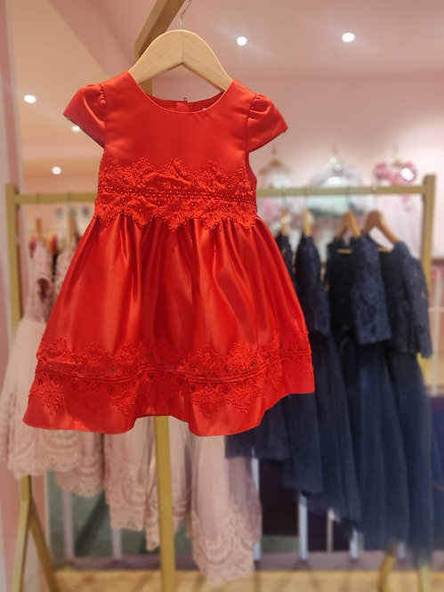 RS-Classic Red Lace Dress
