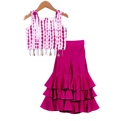 Cherry Dip Sharara Set-Purple