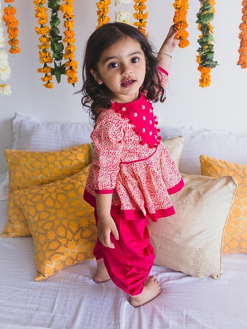 Angrakha Baby Pink Floral