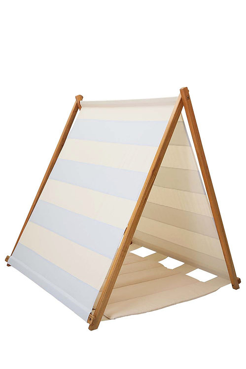 BLUE STRIPED TENT WITH MATCHING MAT