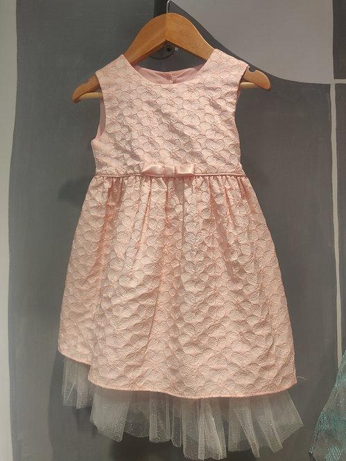 Peach Brocade Dress