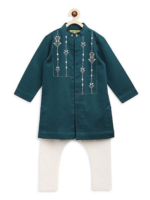 Boy Teal Persian Kurta Set