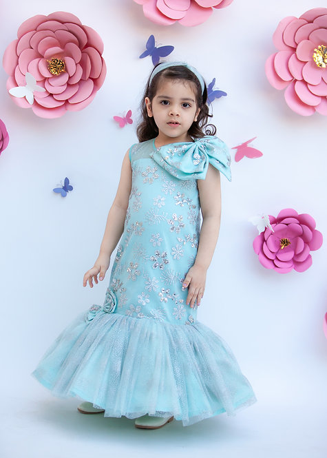 Blue Glitter Gown