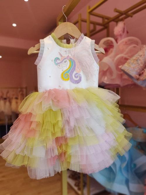 Embellished Unicorn Multi Colour Dress