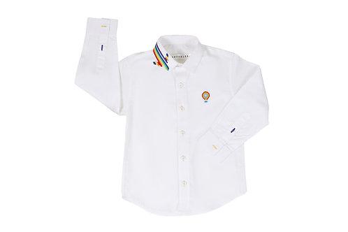 Rainbow Hued Collar Shirt