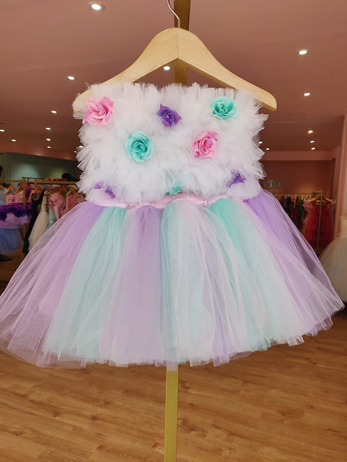 Flower Tube Top with Tutu Skirt