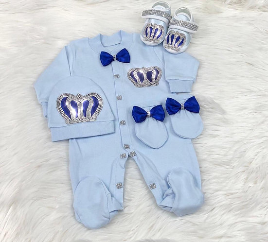 Royal Jewel Newborn Set -Blue