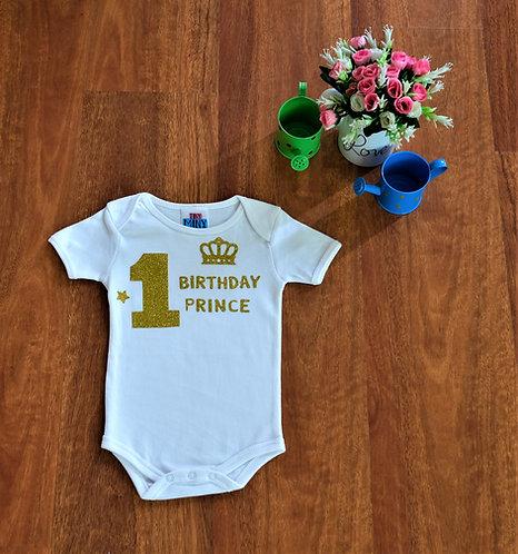 First Birthday Prince Bodysuit