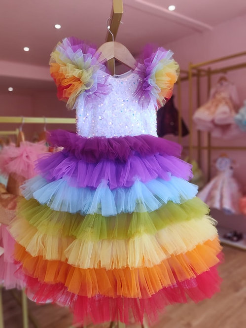 Rainbow Layered Gown