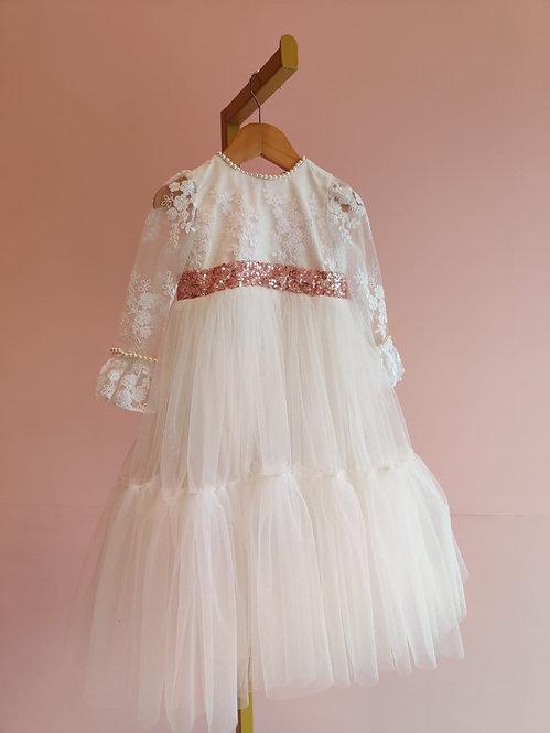White Saara Dress