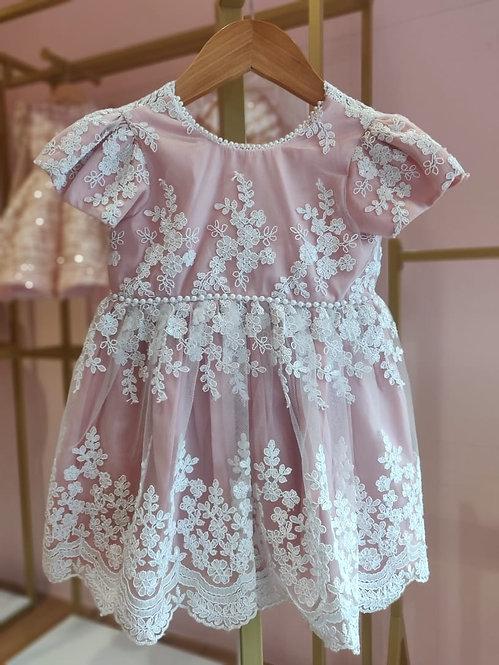 RS-Pink Arya Lace dress