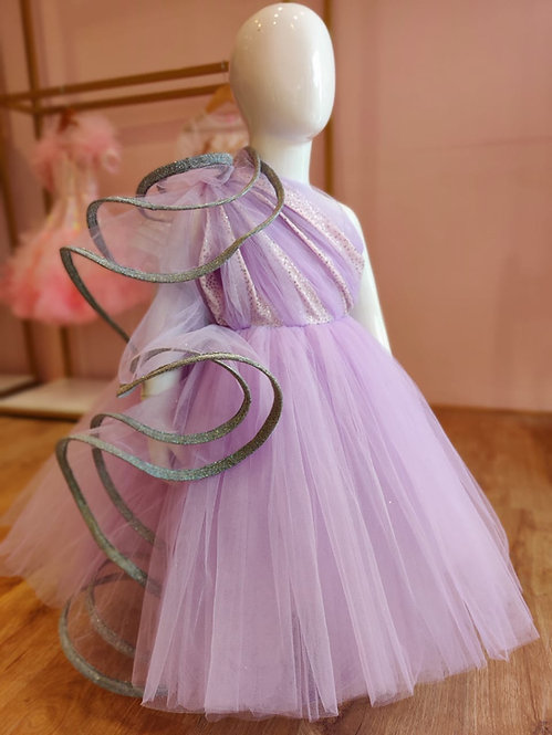 Lavender Couture Gown