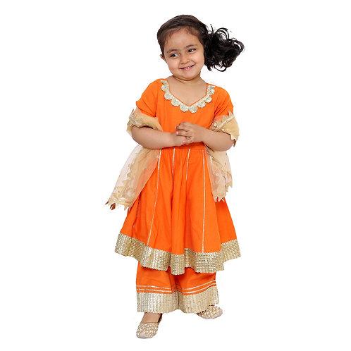 Orange Sharara Salwar