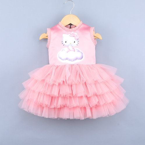 Kitty On Clouds Pink Dress