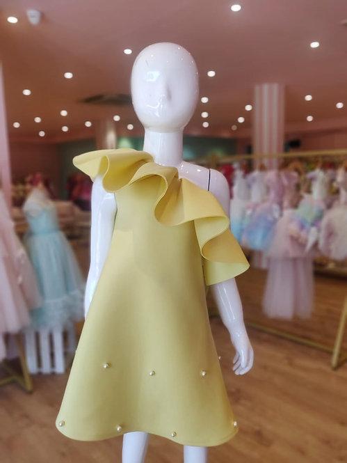 Yellow Off-Shoulder Dress