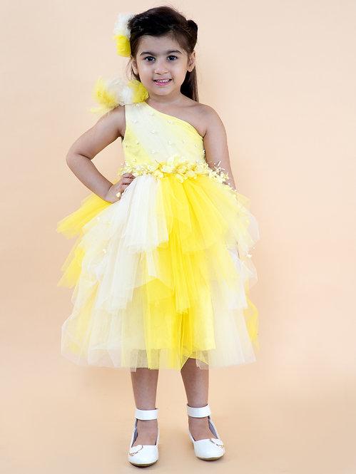 Yellow Shaded Flower Dress