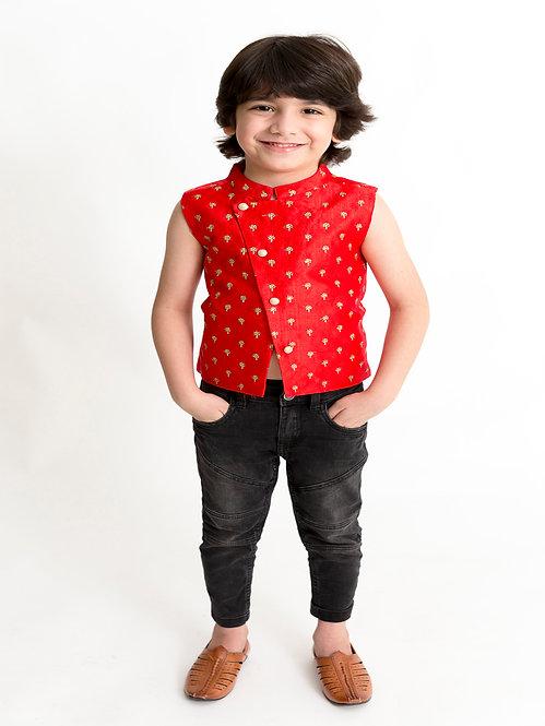 Stylish Boys Jacket -Red
