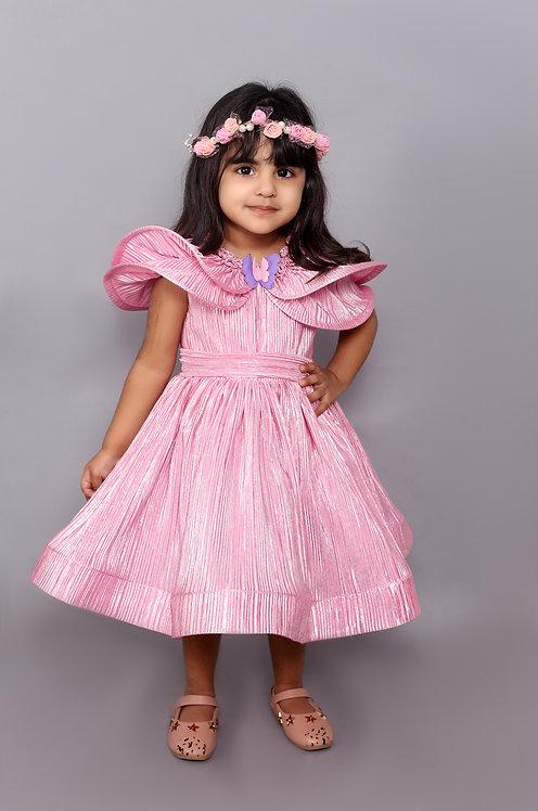 Pink Wrinkled Dress