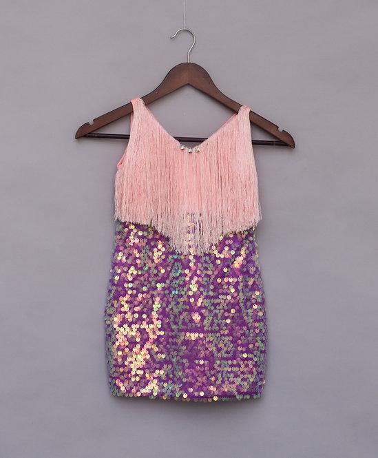 Peach & Purple Dress