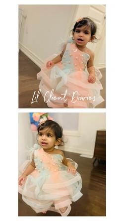 Pink Blue Feather Dress Off Shoulder Dress